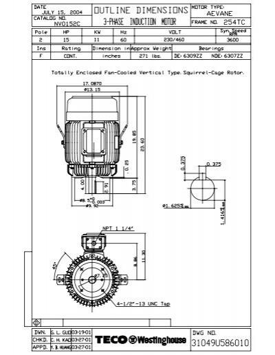 olnv0152c model 1  tecowestinghouse motor company