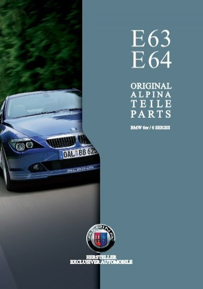 EE Parts Accessory BMW Alpina - Alpina bmw parts