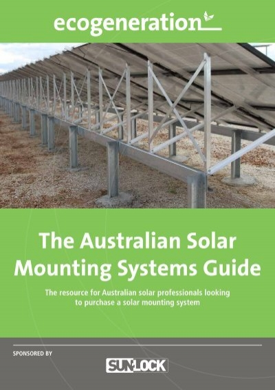 The australian solar mounting systems guide sunlock sciox Image collections