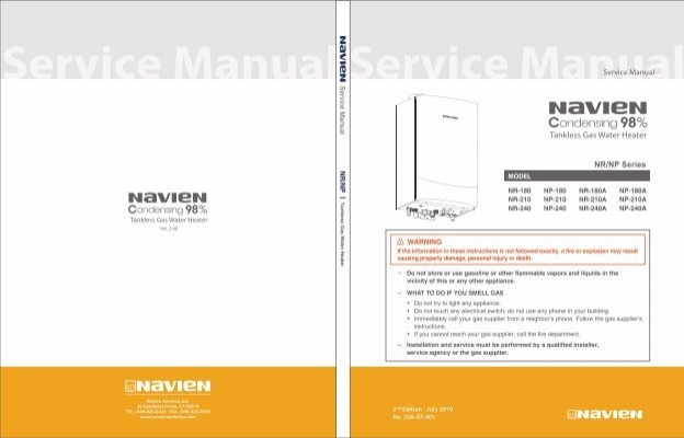 Navien Np Condensing Tankless Gas Water Heater Service Manual