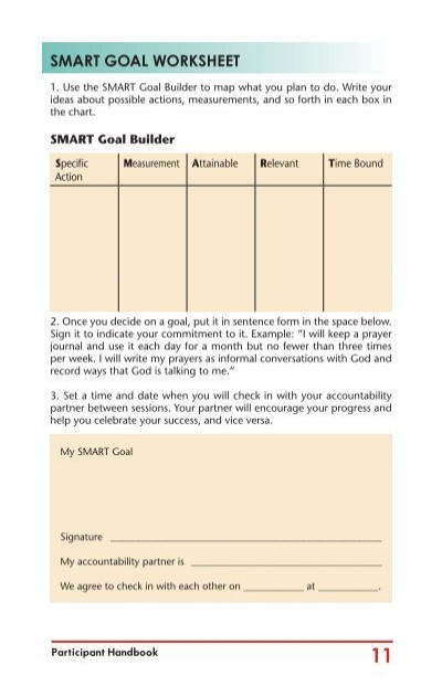 Smart Goal Worksheet