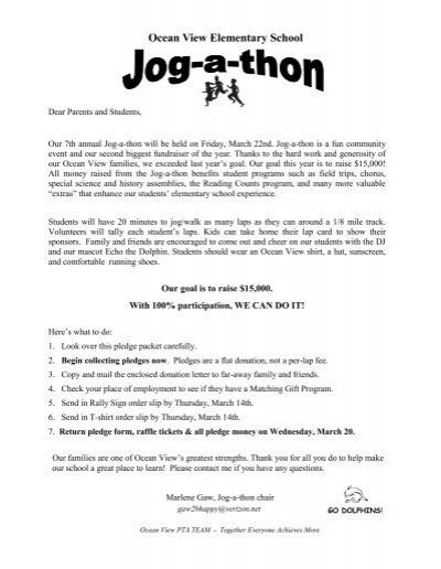 walk a thon pledge sheet template