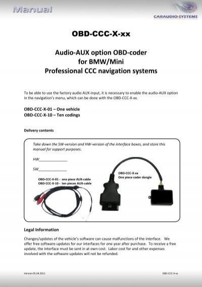 obd ccc x xx audio aux option obd coder for bmw mini rh yumpu com 2017 bmw r1200rt audio system manual bmw motorrad audio system manual
