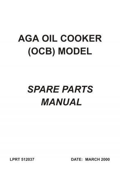 aga oil cooker ocb rh yumpu com Service Station Owner's Manual