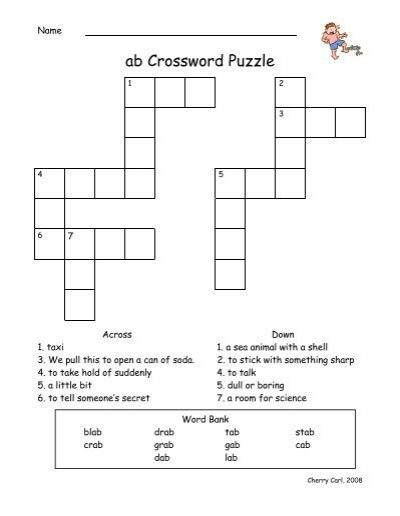 Ab Crossword Puzzle Word Way