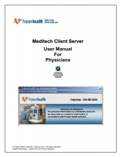 meditech client server user manual for physicians rh yumpu com Medtech Products medtech evolution user manual