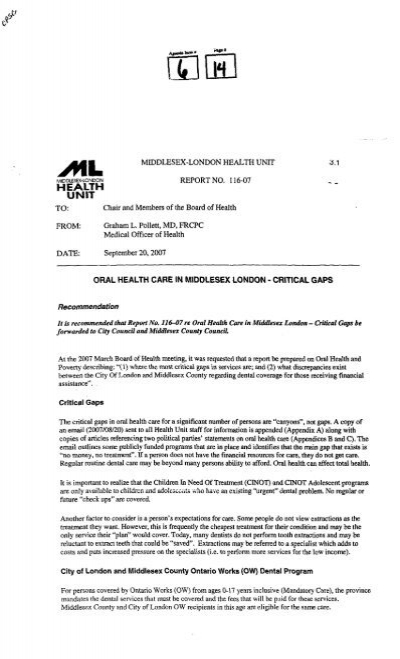 item 6 - The City of London Meeting Packages area has been re ...