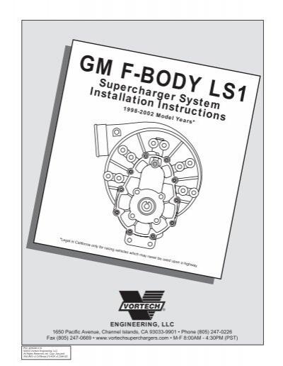 1999-2001 5 7L LS1 F-Body - Vortech Superchargers
