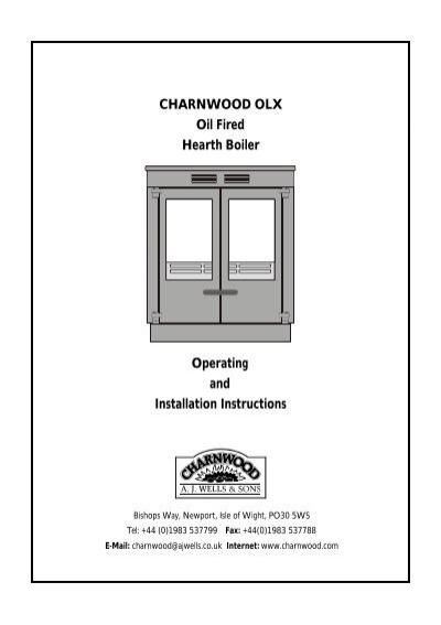 Charnwood OLX Oil Fired Hearth Boiler