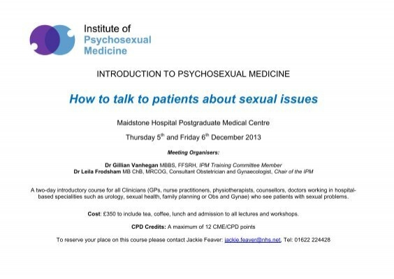 Psychosexual medicine courses