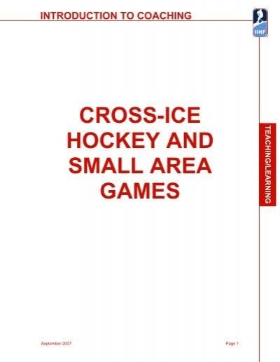 Iihf Cross Ice Hockey And Small Area Games Marblehead Youth