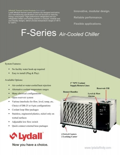 affinity lydall f series chiller datasheet mhz electronics inc rh yumpu com Lydall Affinity Chillers and Heat