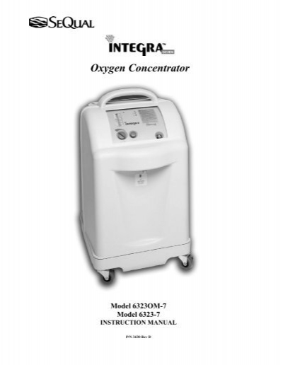 sequal o2 conc integra impact biomedical corp rh yumpu com SeQual Eclipse Sequal Oxygen Concentrator Integra