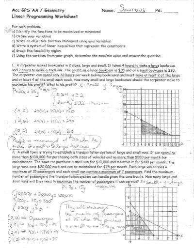 Linear Programming Worksheet Solutions.pdf - Reeths-Puffer Moodle