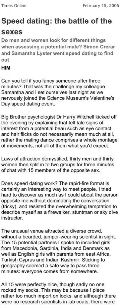 Speed dating for scientists