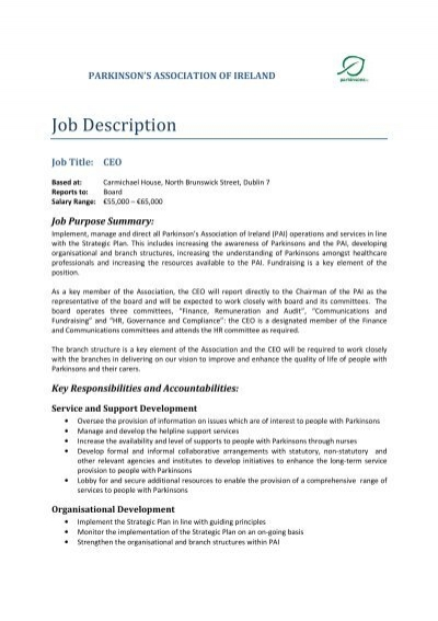 Job Description Of Ceo ~ Www.Ditrio