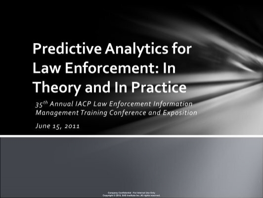 "predictive policing law enforcement and technology Predicting crime, lapd-style  law enforcement agencies in san diego county  says technology such as predictive policing creates ""categorical suspicion of."