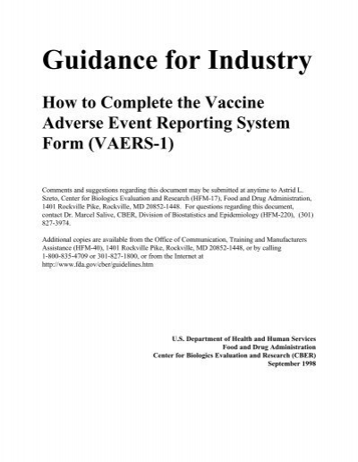 How to Complete the Vaccine Adverse Events Reporting System Form