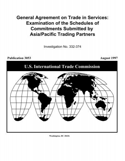 General Agreement On Trade In Services Examination Of Usitc