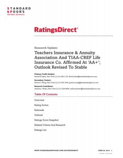 Tiaa Cref Life Insurance Quote Alluring National Life Insurance Tiaa Cref Life Insurance Rating