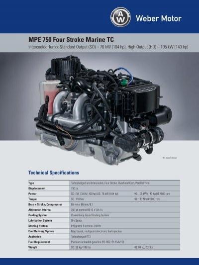 mpe 750 four stroke marine tc weber motor weber motor rh yumpu com Polaris Weber Engine weber 750 turbo service manual