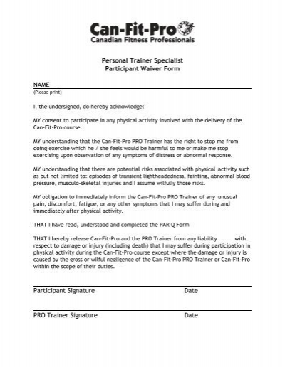 printable personal trainer request form - Palmer College of ...