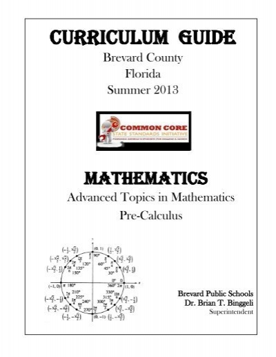 Advanced Topics And Pre Calculus Secondary Programs Brevard