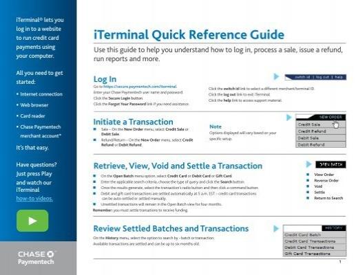 secure paymentech com iterminal