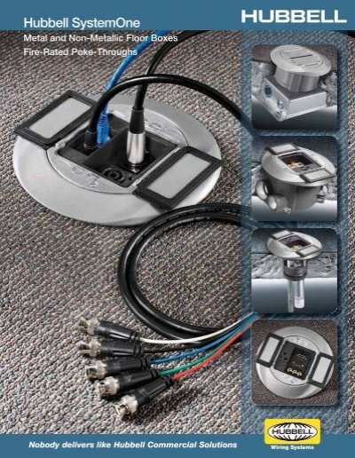 hubbell systemone metal and nonmetallic floor boxes