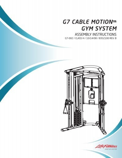 G home gym user manual and assembly instructions life