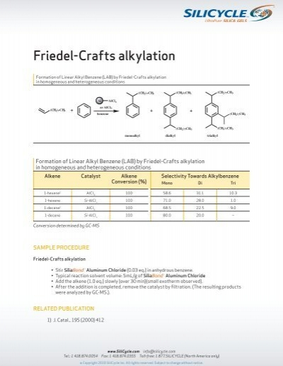 friedel crafts alkylation lab