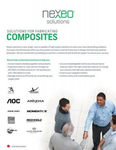 Composites Fabricating Line Card Canadapdf Nexeo Solutions
