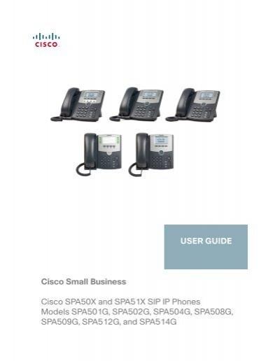 cisco small business spa5xx sip ip phone user guide rh yumpu com