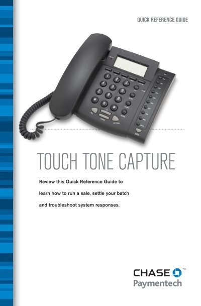 touch tone capture chase paymentech rh yumpu com Quick Reference Guide Template Quick Reference Guide Design Templates