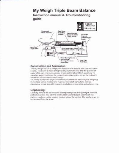 Triple Beam Balance Practice Worksheet