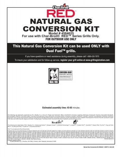 Natural Gas Conversion Kit Char Broil Grills
