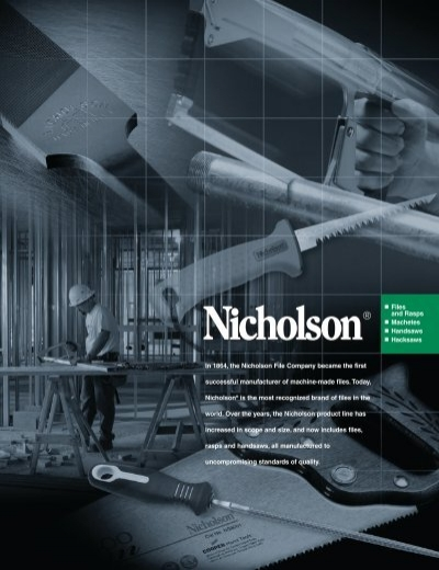 American Pattern File Hand Shape Single Cut Nicholson 4 Units Double 8 in Length