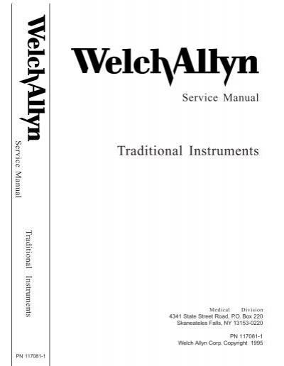 Welch allyn spot lxi service manual monet medical.