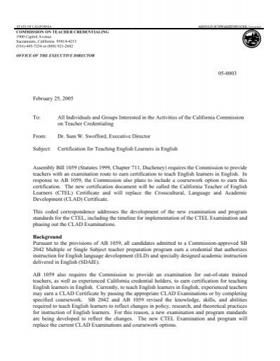 05-0003 - commission on teacher credentialing - state of california