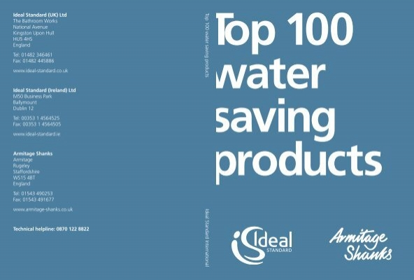100 water Saving Products 2011 Ideal Standard is committed ...