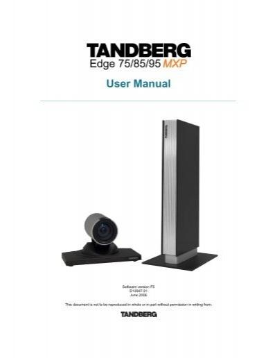 tandberg vtc manual user guide manual that easy to read u2022 rh wowomg co tandberg 1000 mxp user manual Tandberg 1000 MXP Manual