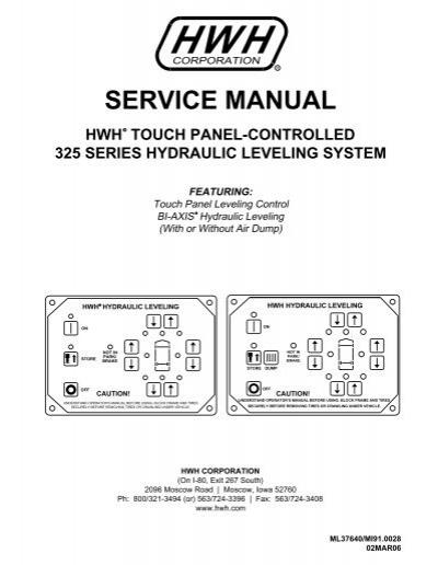 service manual hwh corporation rh yumpu com Owner's Manual Parts Manual