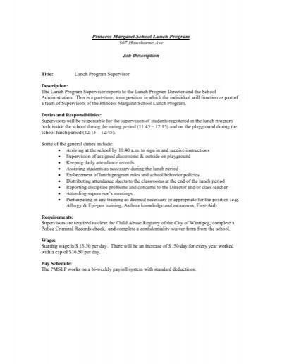 basic generic job description senior housekeeping supervisor 1 – Generic Employment Application
