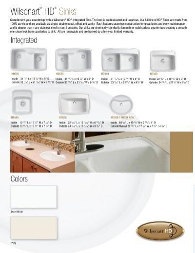 Merveilleux Wilsonart HD Sinks Wilsonart Wilsonart Solid Surface Sinks