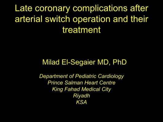 Late Coronary Complications After Arterial Switch