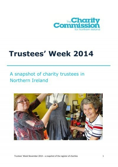 20141110 A Snapshot Of Charity Trustees In Northern Ireland Research Report