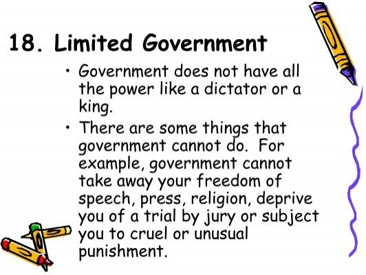 18 Limited Government