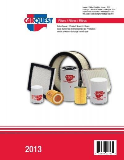 Carquest Filters Interchange Carquest Auto Parts