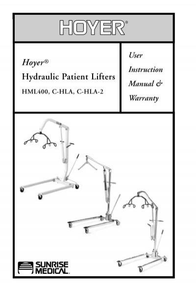 Classic Hoyer Lift Instructions Pdf Activeforever