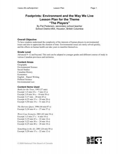Footprints Environment And The Way We Live Lesson Plan For The Where do you live?, i live near the. live lesson plan